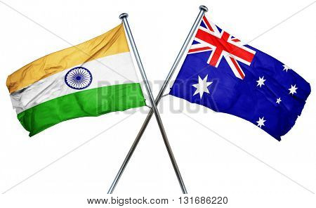 India flag  combined with australian flag