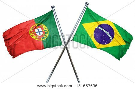 Portugal flag  combined with brazil flag