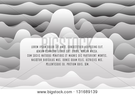 Vector background with paper waves and place a text for web sites presentations and your design