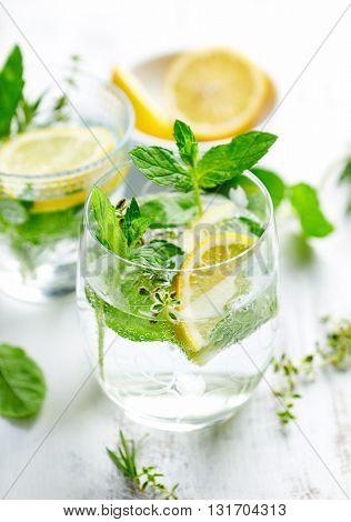 Lemon and Herb Detox Water