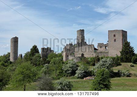 The old castle ruin Brandenburg in Germany