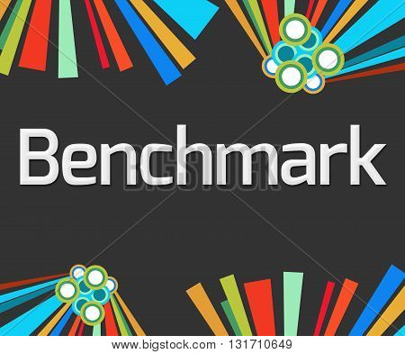 Benchmark text written over dark colorful background.