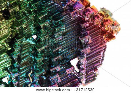 Bismuth - Rainbow Metal Background
