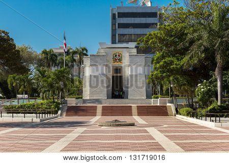 SANTO DOMINGO, DOMINICAN REPUBLIC - CIRCA JAN 2016: Independence Park in Santo Domingo, Dominican Republic