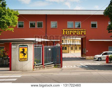 MARANELLO ITALY - MAY 20: Original entrance to Ferrari factory on may 20th 2016.