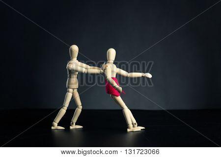 Man dismissing woman