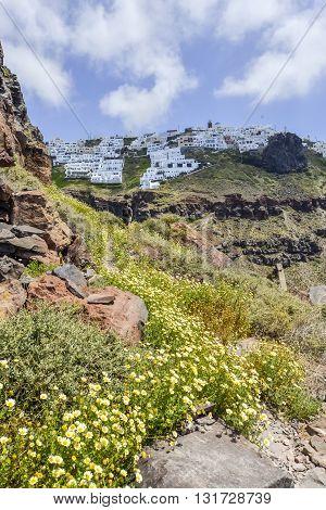 Walk Around Rock At Imerovigli, Santorini