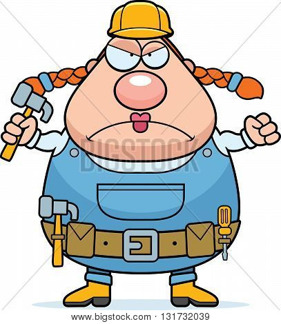 Construction Worker Angry