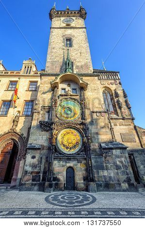 The Old Town Hall Tower With The Horologe, Prague, Czech Republic
