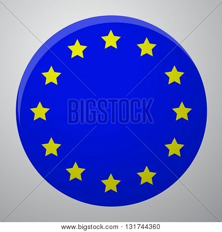 Icon European Union Flag. European union symbol europe and european union flag european and euro vector illustration