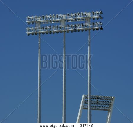 Light Poles From A Baseball Park