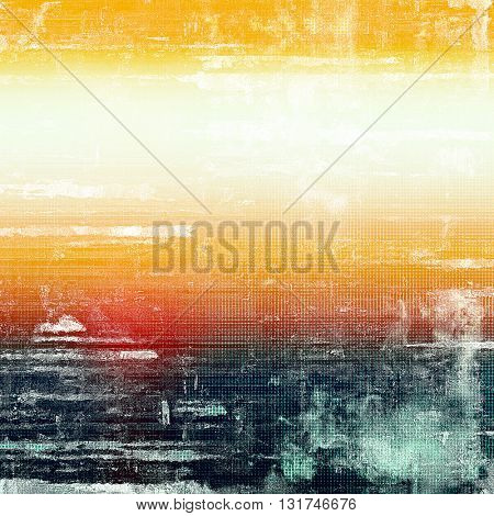 Cute colorful grunge texture or tinted vintage background with different color patterns: yellow (beige); blue; red (orange); white; cyan
