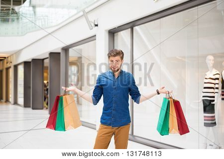 Young Man In The Mall