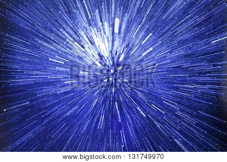 ABSTRACT SPEED EFFECT BLUE BACKGROUND