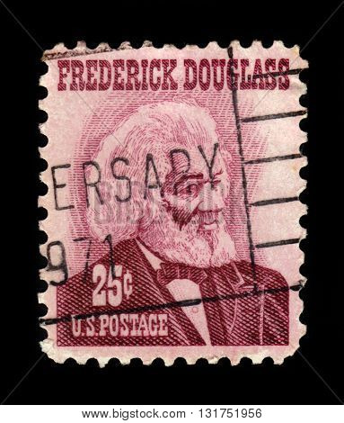 USA - CIRCA 1967: a stamp printed in USA shows Frederick Douglass was an african-american social reformer, abolitionist, orator, writer, circa 1967