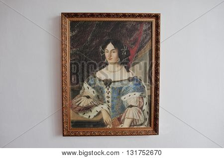 Mukachevo,ukraine - April 11,2016: Picture Of Ilona Zrinyi (jelena Zrinska) 1643-1703 One Of The Gre