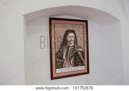 Mukachevo,ukraine - April 11,2016: Picture Of Francis (ferenc) Ii Rakoczi (1676-1735), Prince Of Tra