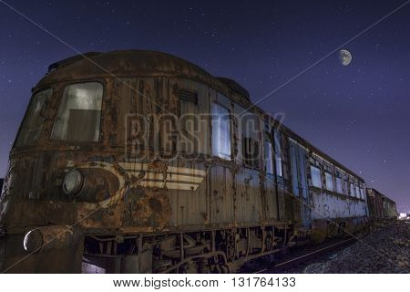 An old abandoned train, left to decay..
