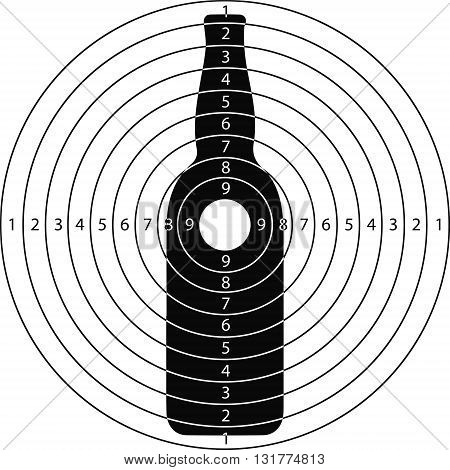 shooting target bottle for the shooting range small arms made in the vector