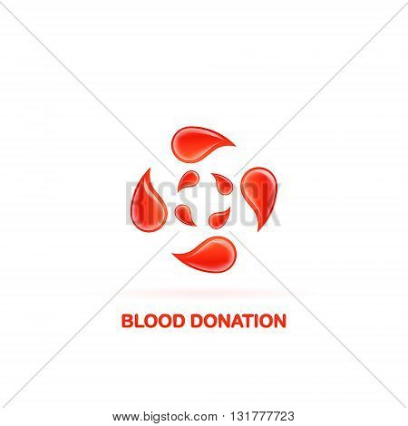 blood donation logo on a white background