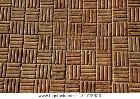 Horizontal and vertical striped pattern of antiskid flooring tiles