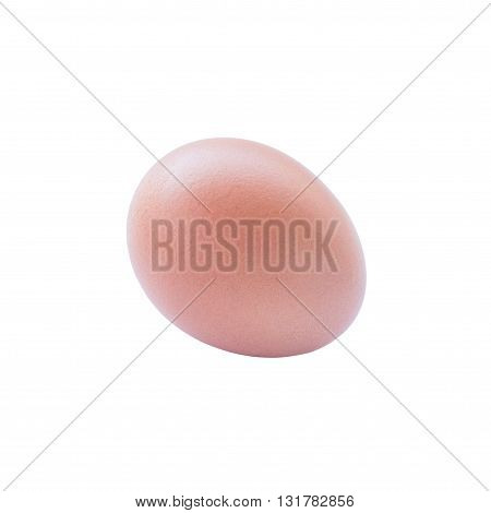 brown chicken egg isolated on white background with clipping path