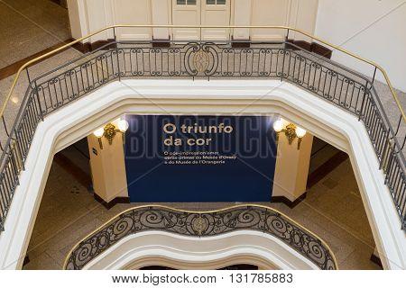 Sao Paulo, Sp, Brazil - April 20, 2016: Architecture Details Of The Ccbb - Centro Cultural Banco Do