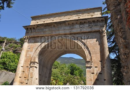 Augustus Arch In Susa