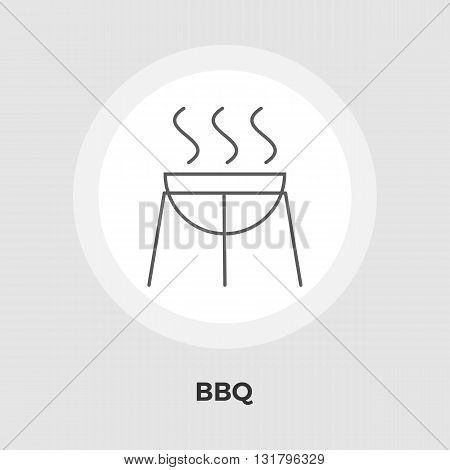 BBQ Icon Vector. Flat icon isolated on the white background. Editable EPS file. Vector illustration.