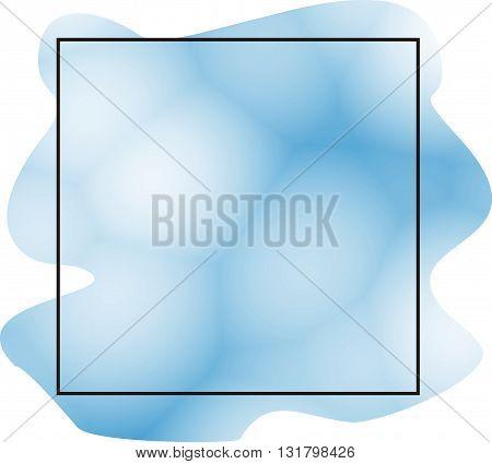 Creative bright blue banner watercolor brush strokes. Watercolor background. Watercolor banner. Watercolor frame. Watercolor pattern. Watercolor pattern.Artistic watercolor banner sale. watercolor banner