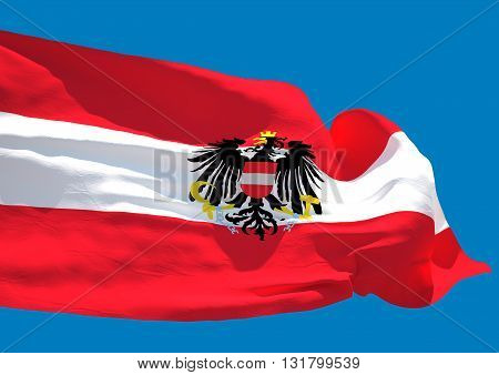 Austria wave flag HD Republic of Austria