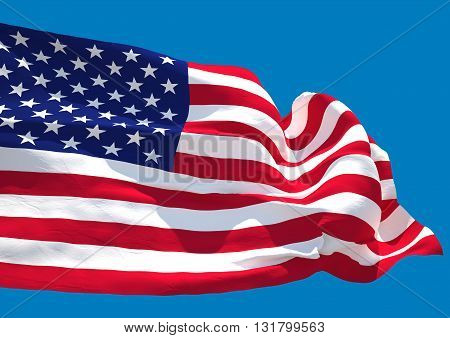 USA wave HD flag United States of America