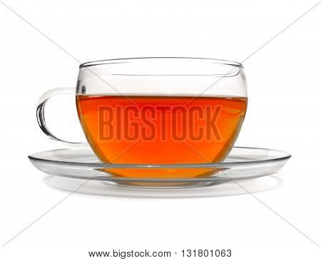 Tea cup, rooibos or assam tea, isolated on white background.