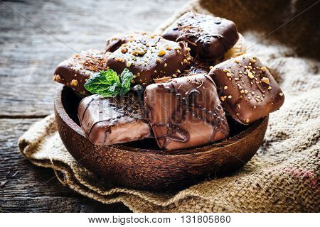 Photos of sweet time on rustic background