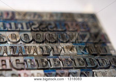 Letterpress Type Blocks