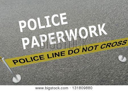 Police Paperwork Concept
