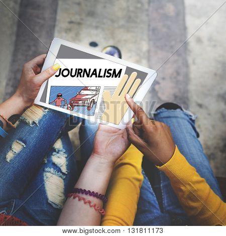 Journalism Article Interview News Publish Report Concept