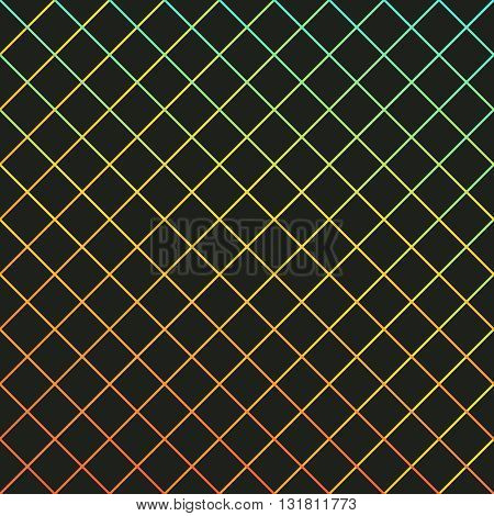 Background with gradient colored diagonal lines black