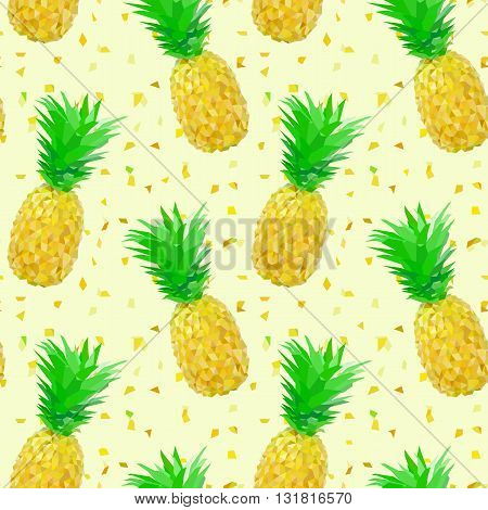 sparse low poly pineapple pattern with splinters