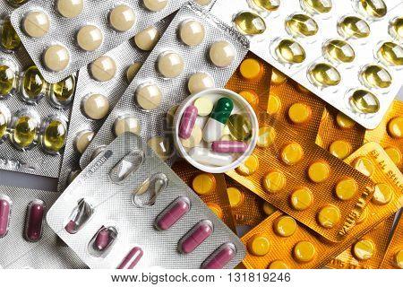 Pills Set Background
