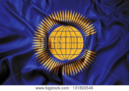 Waving Flag of the Commonwealth of Nations