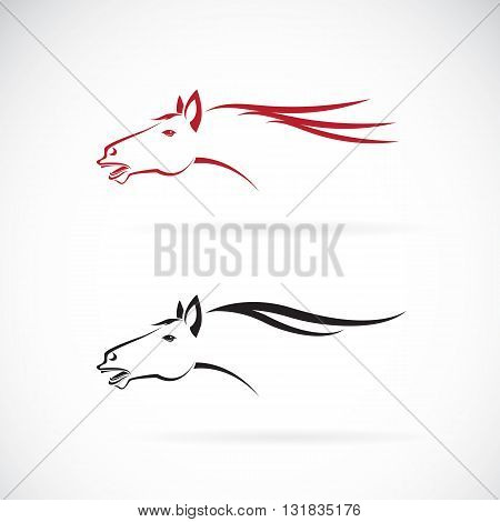 Vector images of horse head design on a white background Horse Logo Horse Tattoo Vector horse head for your design.