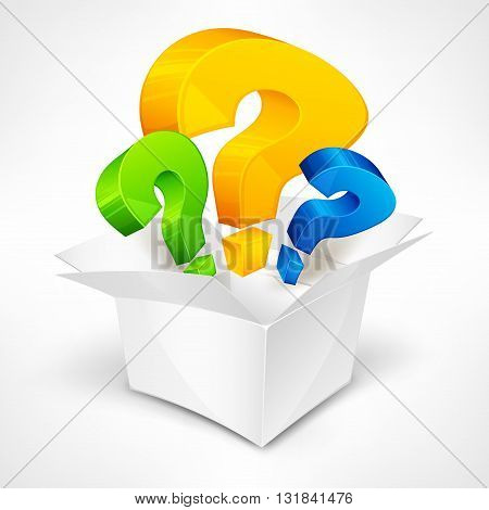 Question Marks In Box