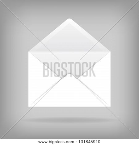 Vector template open envelope. Realistic vector envelope for design.