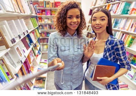 Young People At The Book Shop