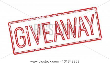 Giveaway Red Rubber Stamp On White