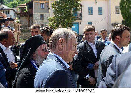 Russian President Vladimir Putin During A Visit To The Monastic Community Of Mount Athos