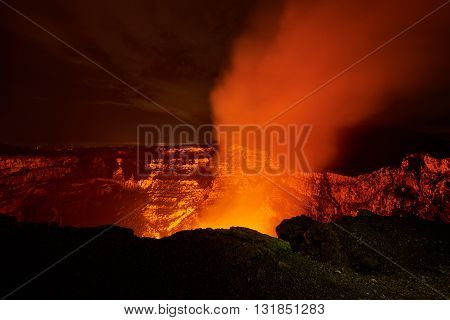 Big Crater Of Volcano
