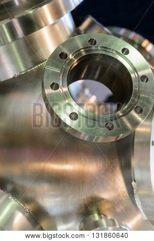 Heavy Metal Housing With Welded Flanges.