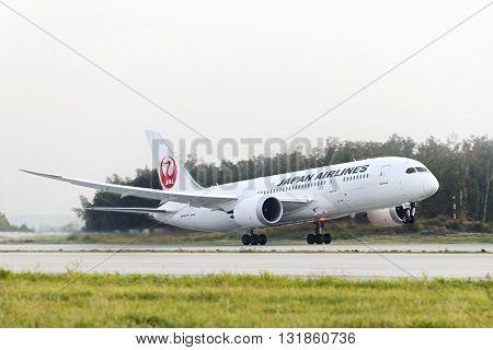 Japan Airlines Boeing 787 Dreamliner Taking Off